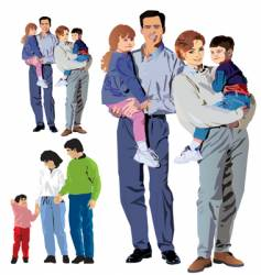 family illustration vector image