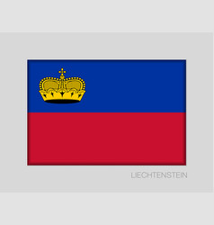 Flag of liechtenstein national ensign aspect vector