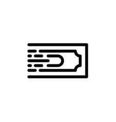flat line transfer money icon symbol sign logo vector image