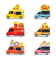 food truck fast shop vector image
