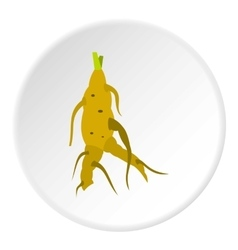 Ginseng icon flat style vector