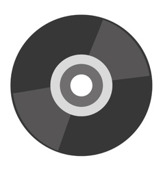 grey compact disk vector image