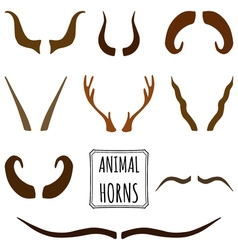 Hand drawn silhouettes collection set of animal vector image