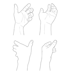 HAND vector image