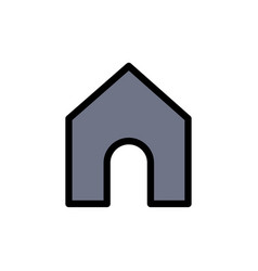 home instagram interface flat color icon icon vector image