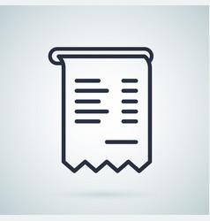 invoice icon symbol business vector image
