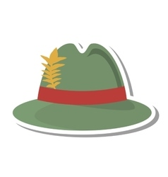Irish hat isolated icon vector
