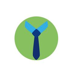 Isolated necktie icon block design vector