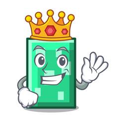 King rectangle mascot cartoon style vector