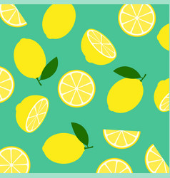 lemon citrus fruit food summer texture seamless vector image