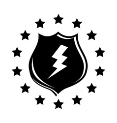 Lightning and shield icon simple style vector image