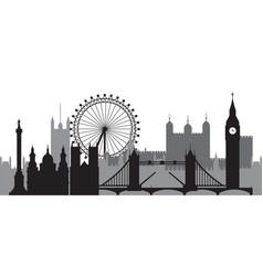 london skyline silhouette 1 vector image