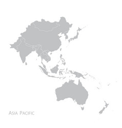 map asia pacific vector image