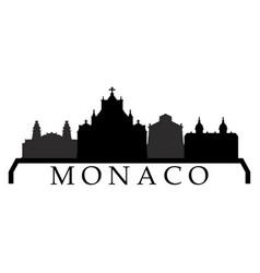 monaco skyline vector image