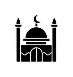 Mosque black glyph icon vector