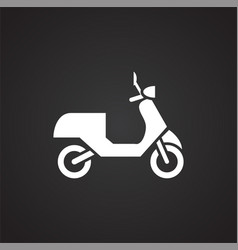 Moto related icon on background for graphic and vector