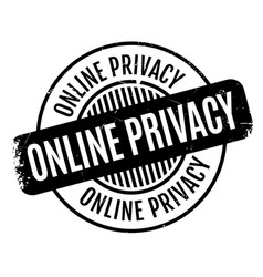 Online privacy rubber stamp vector