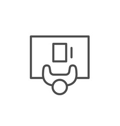 person at desk line outline icon vector image