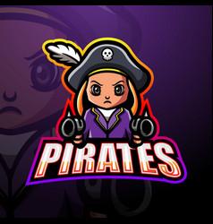 Pirates shooter esport mascot logo design vector