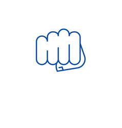 punching fist line icon concept punching fist vector image