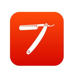 razor blade icon digital red vector image