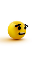 Scared emoji isolated on transparent background vector