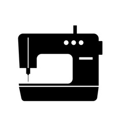 sewing machine sign filled black icon at vector image