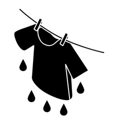 shirt drying icon simple style vector image