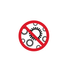 sign caution coronavirus stop pandemic icon vector image