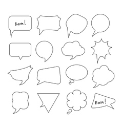 Speech Bubbles big hand drawn set vector image