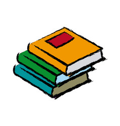 Stack books literature study learn read image vector