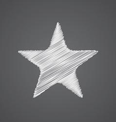 Star sketch logo doodle icon vector