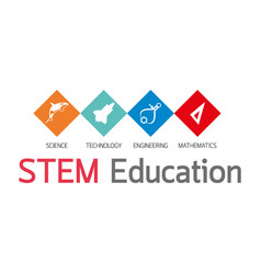 Stem education logo vector