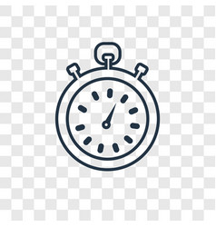 stopwatch concept linear icon isolated on vector image