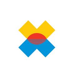 sunset letter x logo vector image