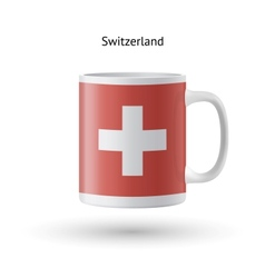 Switzerland flag souvenir mug on white background vector