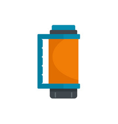 thermos bottle icon flat style vector image