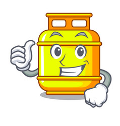 Thumbs up gas tank operating character cooking vector