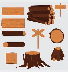 Tree lumber wooden vector
