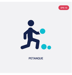 two color petanque icon from activity and hobbies vector image