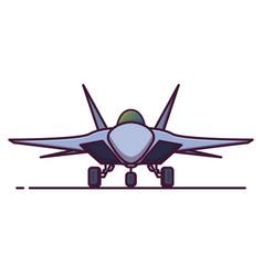 war plane jet figther line vector image