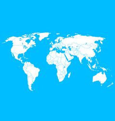 World map infographic template layered template vector
