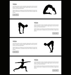 yoga female silhouettes set vector image
