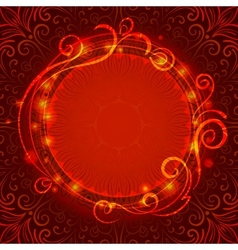 Abstract red mystic lace background with swirl vector image vector image