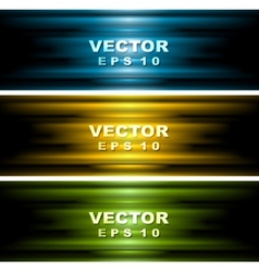 Bright glowing banners vector image vector image