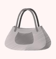 flat shading style icon clothes ladies handbag vector image vector image
