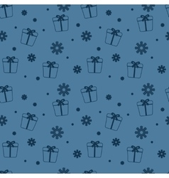 Seamless Christmas pattern New Year theme vector image