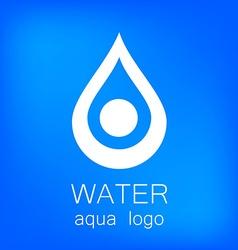 water aqua logo vector image