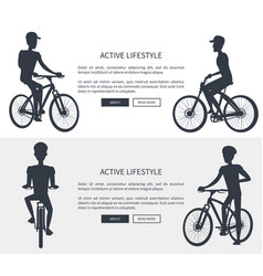 active lifestyle bikes set vector image