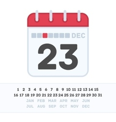 Calendar icon with the date vector image